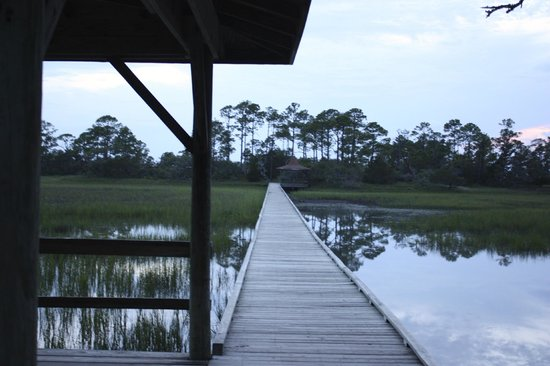 Hunting Island State Park Campground: The Marsh Walk, best viewed at sunset.