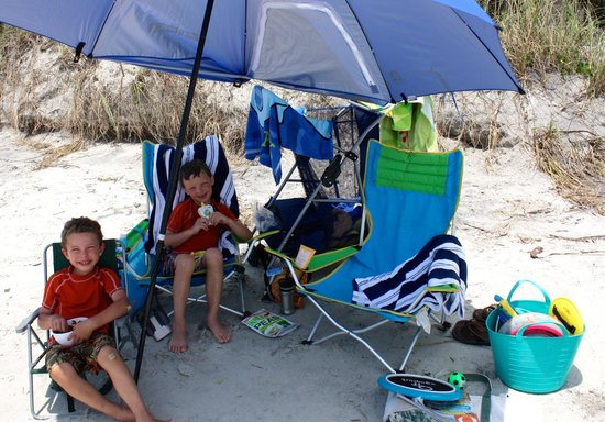 Hunting Island State Park Campground: Lots of fun body boarding, shell and shark teeth hunting, and relaxing on this white sandy beach