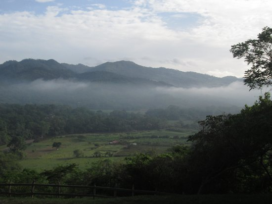 Hacienda San Lucas: View of the valley from the hotel.