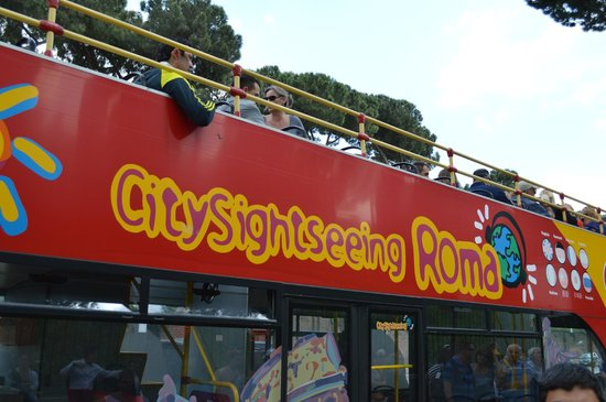 City Sightseeing Rome : Red bus