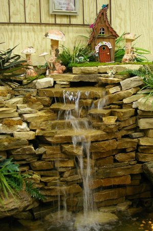Linton S Enchanted Gardens Indoor Waterfall With Anese Koi Fish Pond