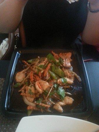 Blue Chili Thai Restaurant: fried chicken dish