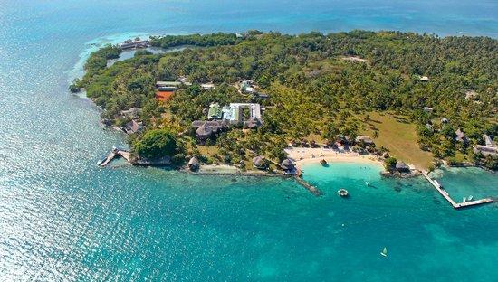 Isla Mucura, Colombia: Aerea playa PUNTA FARO