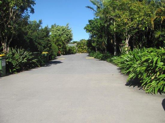 Gold Coast Holiday Park & Motel : road outside room
