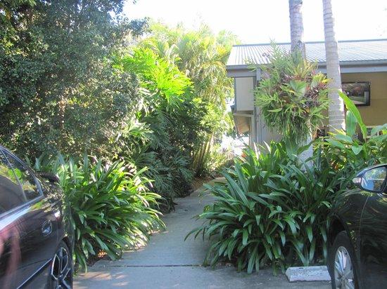 Gold Coast Holiday Park & Motel : path from carpark