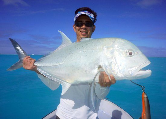Bonefish - E2's Way: Giant Trevally caught on a popper