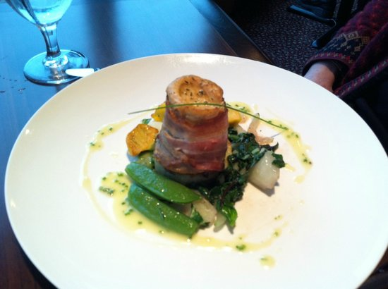 Lucy Maud Dining Room: Arctic char wrapped in bacon