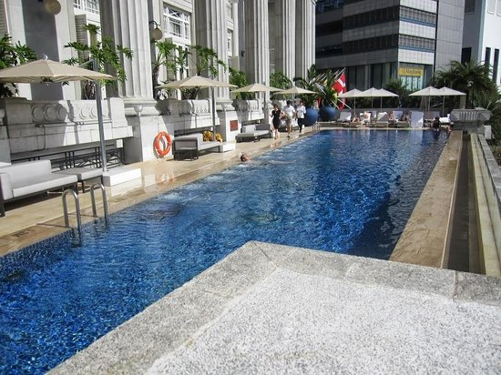 Fullerton Hotel Swimming Pool Picture Of The Fullerton Hotel Singapore Singapore Tripadvisor