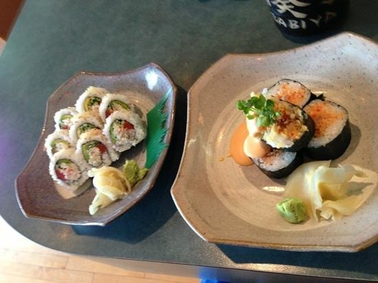 Wasabiya Japanese Sushi Cafe: Campbell River Roll and Volcano Roll