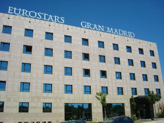 Eurostars Gran Madrid: fachada del hotel