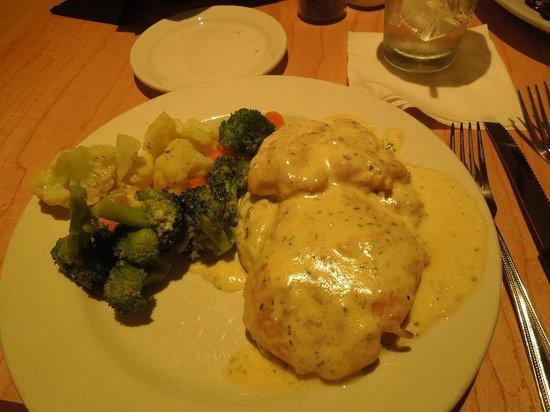 Madeline's Steakhouse & Grill: Chicken Lemoncello  - potatoes are under the chicken