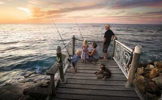 Sea Shanties: Sunset fishing on our jetty