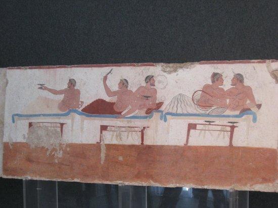 Museo Archeologico Nazionale di Paestum : La tomba del tuffatore