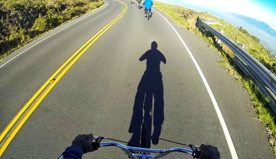 Paia, Hawaï: me biking down