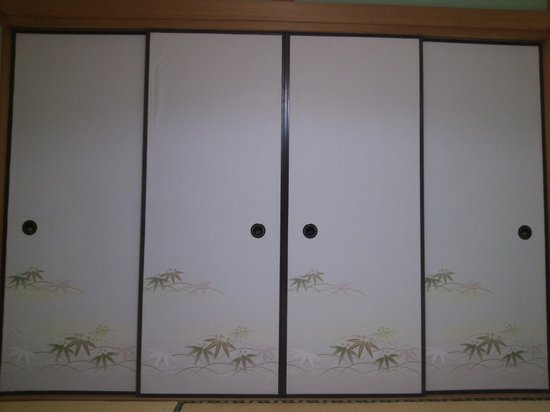 Sanso Tsurunoyu: 객실의 미닫이 문