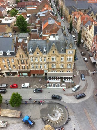 View from the belfry of the cloth hall at Hotel Regina
