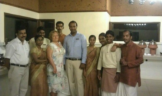 Puvar, India: After dinner at main restaurant
