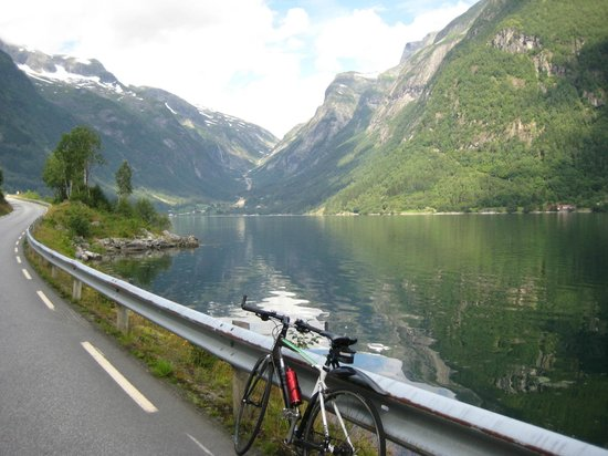 Balestrand, Norwegia: Typical view from the 3 Fjord Ride