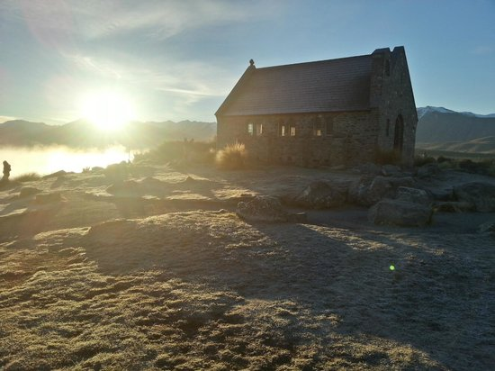 The Chalet Boutique Motel: church of good shepard sunrise