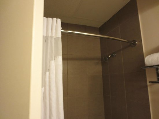 Holiday Inn Metairie New Orleans Airport: Curved shower rod for more room to move around