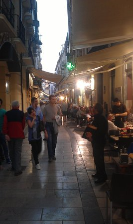 Calle Navas: Rue Navas le soir