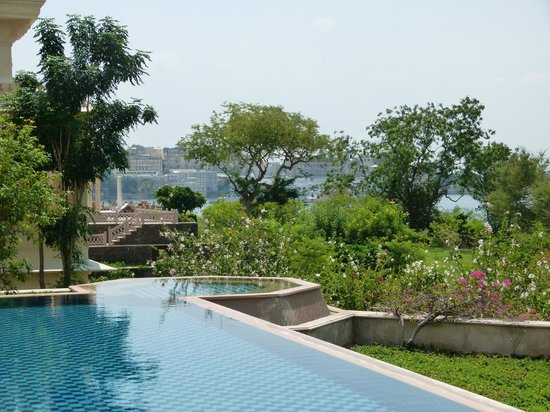 The Oberoi Udaivilas: View from the pool