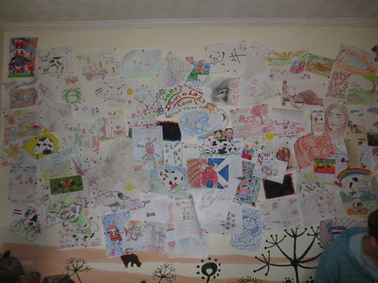 Lazy Cow Backpackers: Cow Art Wall