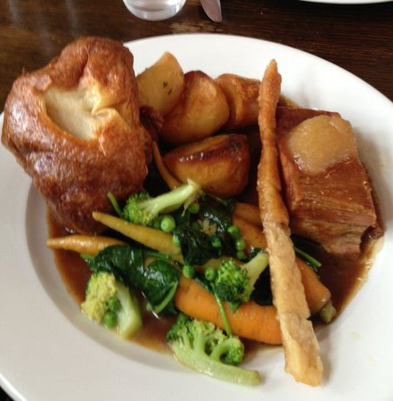 The Crown at Old Basing: Roast Belly of Pork