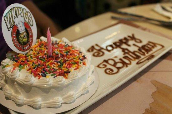 Birthday Cake for Birthday Celebrants Picture of Vikings Luxury