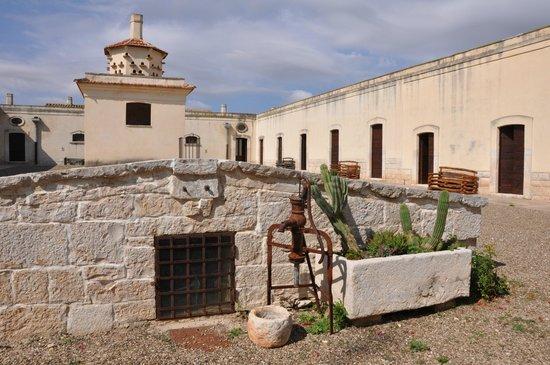 Lama di Luna - Biomasseria : Cour intérieure et entrées des chambres