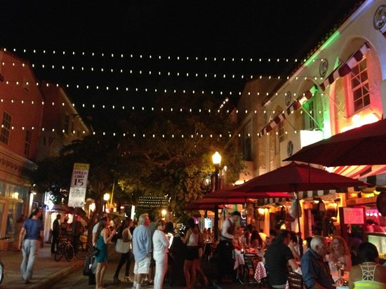 Espanola Way Suites: view from front of st. saturday night