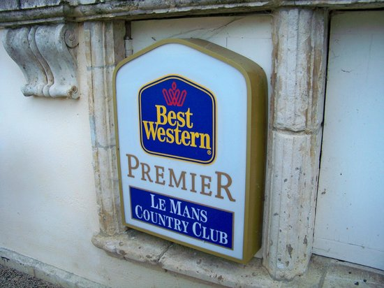 Best Western Premier Le Mans Country Club : Premier sign