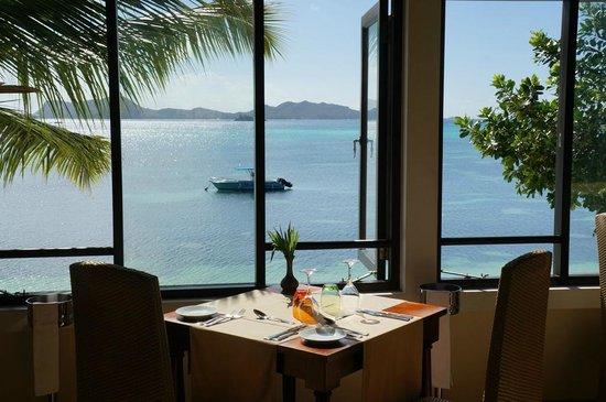 Hotel L'Archipel: Ausblick aus dem Restaurant