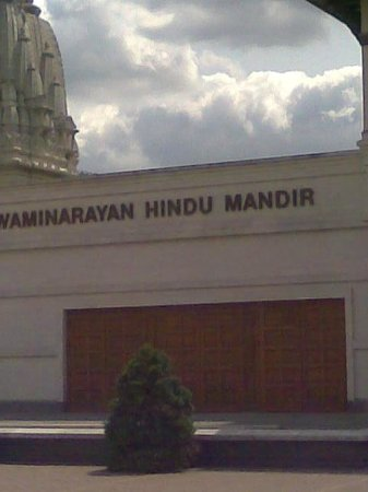 BAPS Shri Swaminarayan Mandir: Writing near the entrance
