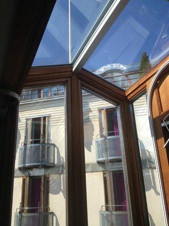 Berns Hotel: bay window/skylight