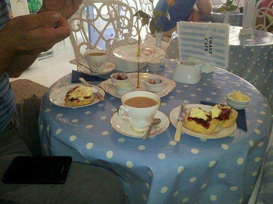 Delicious cream tea at Coast Cafe