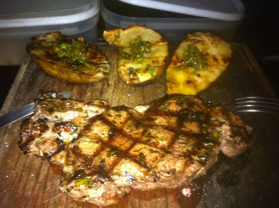 La Portena: Steak and Grilled Potatoes
