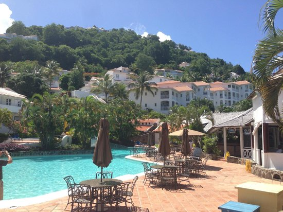Windjammer Landing Villa Beach Resort: View from pool side
