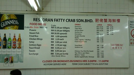 Image result for fatty crab menu