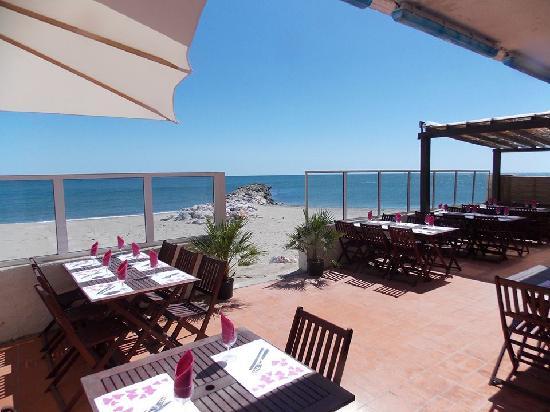 Sainte-Marie-Plage, Francia: Terrasse donnat directment sur la plage