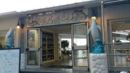 Ristorante Bagni Delfino: 正面入口