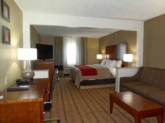 Comfort Inn & Suites Coralville: Extended King Suite Room