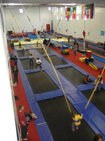 Trampoline World Gymnastics : Open Gym View