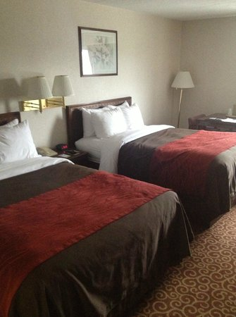 Comfort Inn Bangor: Standard room with two double beds