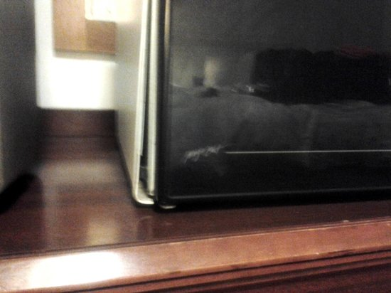 Golden Gate Motel: Microwave literally separating