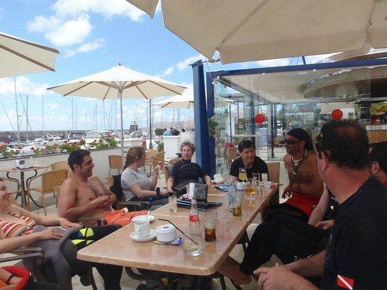 Squalo Diving Center: Intervalo entre inmersiones en Puerto Calero
