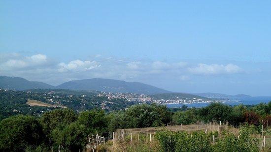 U Pianarellu : vue de la terrasse