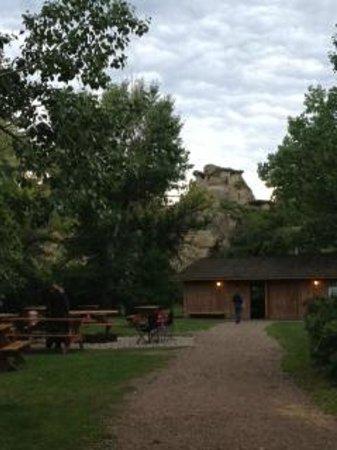 Comfort Camping  Picture of WritingOnStone Provincial Park, Alberta