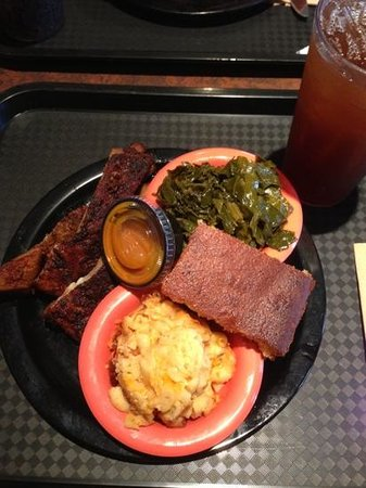 Potter's House Soul Food Bistro Southside: Ribs, mac n cheese, greens, and cornbread