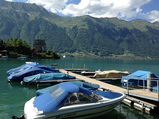 Hotel Chalet Du Lac: vue depuis la terrasse